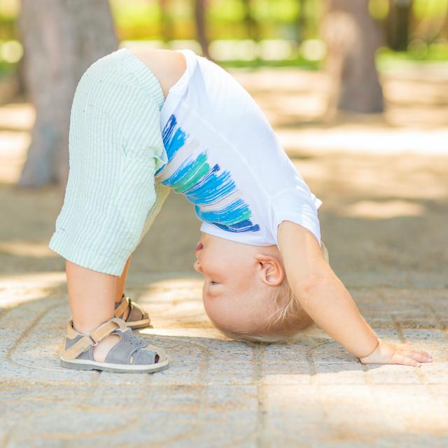 Carol Gray Demonstrates Pregnant Headstand at MamaSpace Yoga