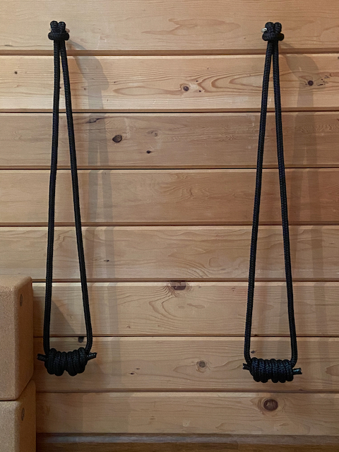 You Need Wall Ropes to Practice Supported Downward Facing Dog at MamaSpace Yoga