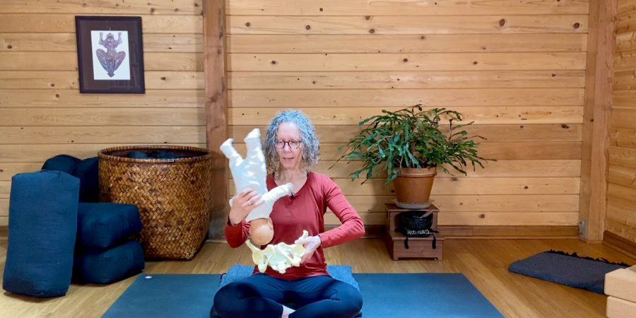 Carol Gray Demonstrates the MamaSpace Yoga Method