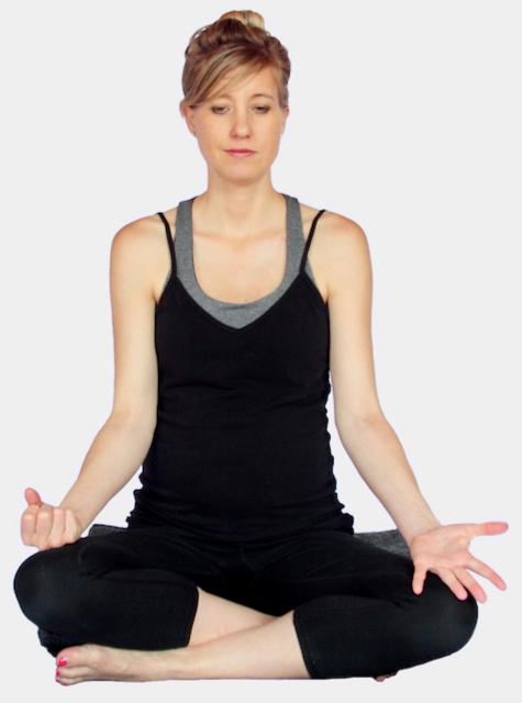 Nadi Shodhana Alternate Nostril Breathing at MamaSpace Yoga by Carol Gray