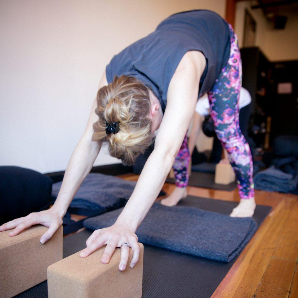 Downward Facing Dog at MamaSpace Yoga