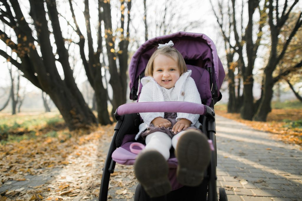 Strollers Are for Little Babies. Big Kids Should Walk by Carol Gray at MamaSpace Yoga